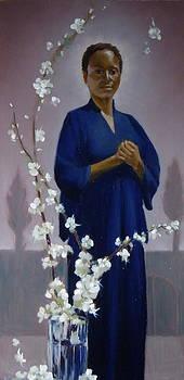 Sariya in Her Gated Garden by Roger Clark