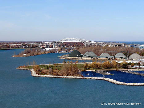 Sarnia Bay facing North to the Bluewater Bridges by Bruce Ritchie