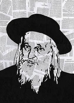 Satmar Rebbe by Anshie Kagan