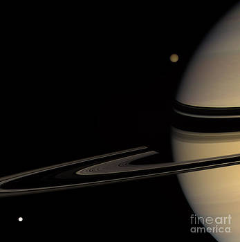NASA - Saturn And Two Moons