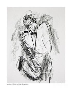 Sax at the cafe by Reza Sepahdari