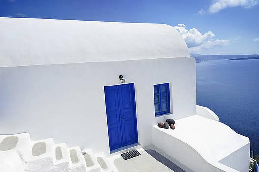 Waldek Dabrowski - Scene in Santorini island Greece