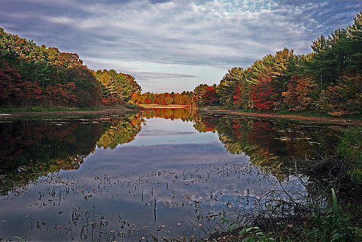 Scenic Drive Pond in Autumn by James Rasmusson