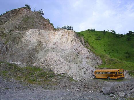 School Bus Grounds by Joey Huertas