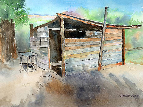 School Cooking Shack - South Africa by Arline Wagner