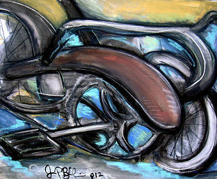 Jon Baldwin  Art - Schwinn Bike Abstract