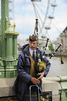 Scottish Piper by Donald Davis