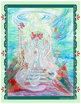 Sea Priestess with Scroll Border by Joyce Jackson