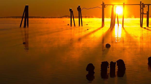 Sea Smoke Sunrise by Kevin Kratka