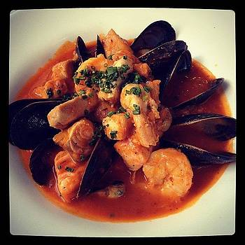 Seafood Basquaise - Momma Taking Me Out by Pauline H