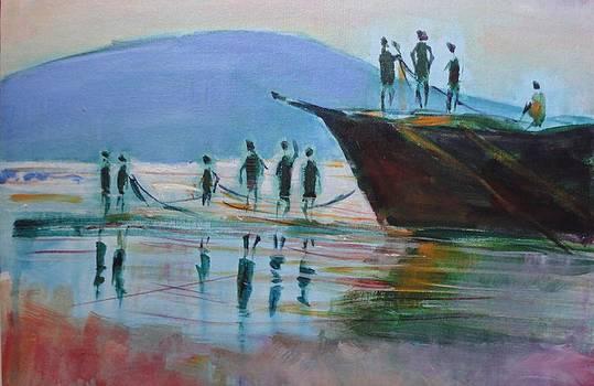 Seascape by Vijayendra Bapte