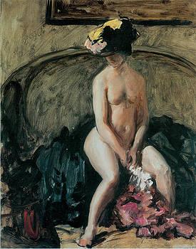 Philip Wilson Steer - Seated Nude The Black Hat