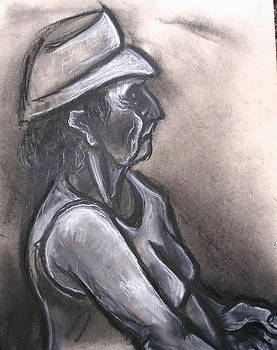 Kenneth Agnello - Seated Older Woman with Hat