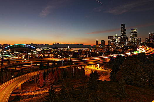 Seattle by Night by Daryl Hanauer