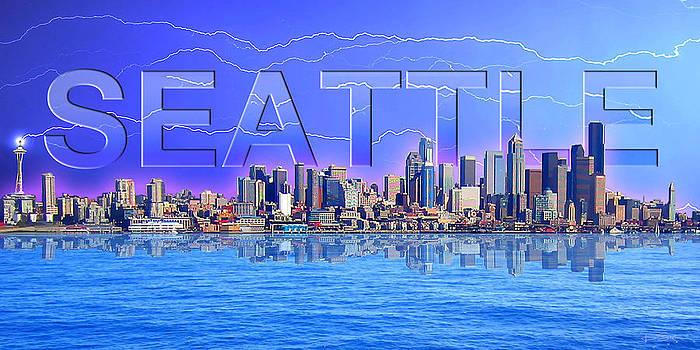 Seattle Cityscape by Ric Soulen