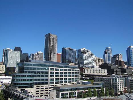 Seattle skyline by Barbara Chachibaya
