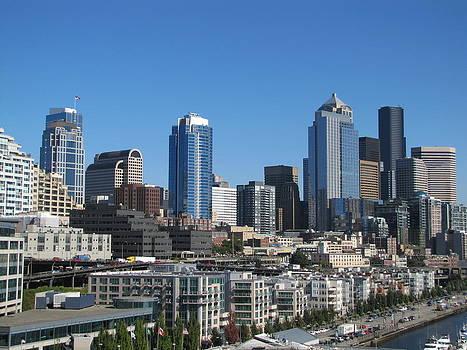 Seattle skyline2 by Barbara Chachibaya