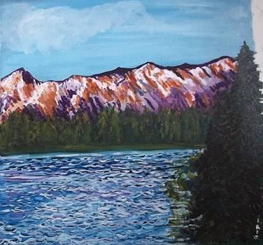 second version of  Rainy Lake Montana  by Iris Devadason