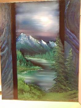 Secret Mountain Lake Passage by Thomas Hostvedt