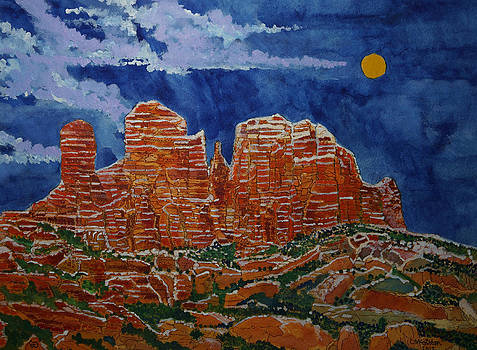 Sedona Arizona Moon by Donald McGibbon
