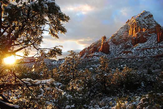 Sedona Winter Sunset by Skip Thomas