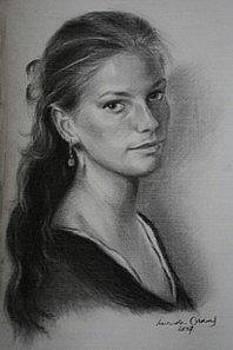 Self Portrait  by Lucinda Coldrey