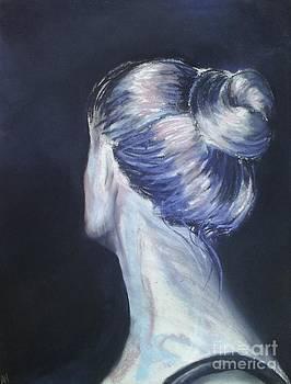 Self Portrait of Artist in Pastel by AE Hansen