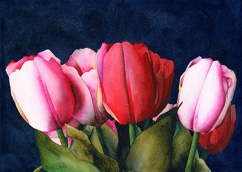 Ken Powers - Sennelier Tulips