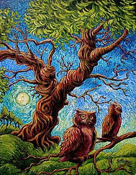 Sentient Owls by Sebastian Pierre