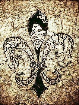 Marian Hebert - Sepia Fleur De Leis