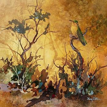 Sepia Hummingbird by Floy Zittin