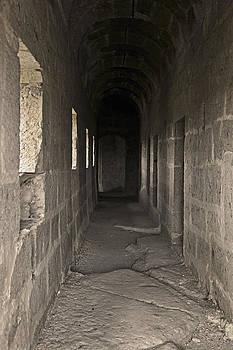 Kantilal Patel - Sepia Monastery Corridor