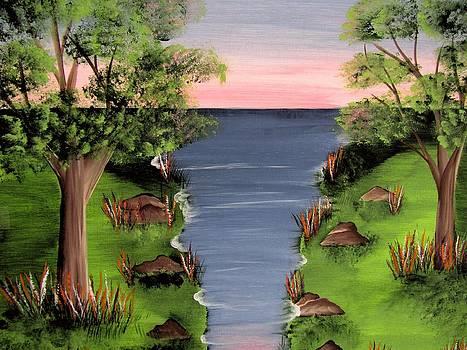 Serene Riverside by Archana Kari