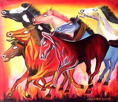 Seven Horses Of Sun-2 by Nirendra Sawan