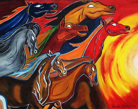 Seven Horses Of Sun by Nirendra Sawan