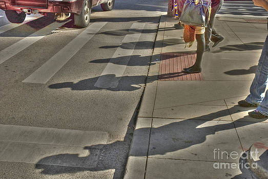 Shadows in the streeet by Jim Wright