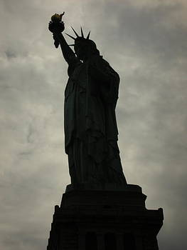 Shadowy Statue of Liberty by Kelsey Horne