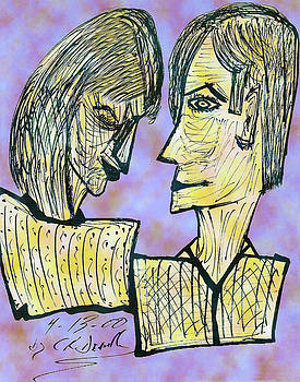 Carl Deaville - SHE AND HE PEN AND INK 2000 DIGITAL