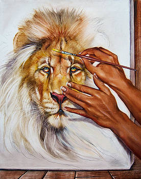 She Paints Him  by Martin Katon