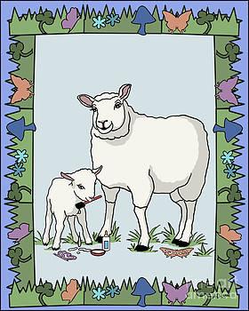 Sheep Artist Sheep Art by Audra D Lemke