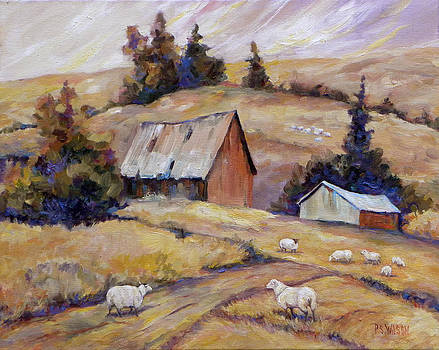 Peggy Wilson - Sheep at the Old Barn