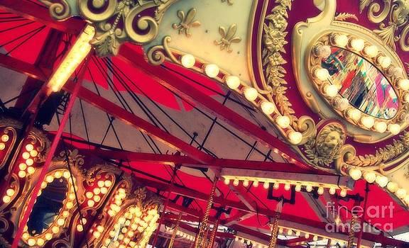 Shiny Red Merry Go Round by Melanie Snipes