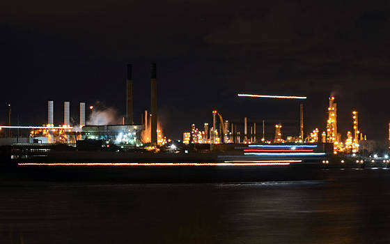 Ship Passing In The Night by Cheryl Cencich