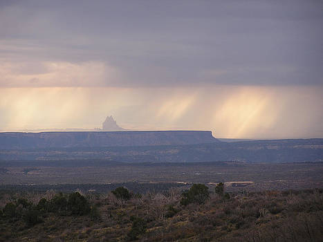 Shiprock in the mists by FeVa  Fotos