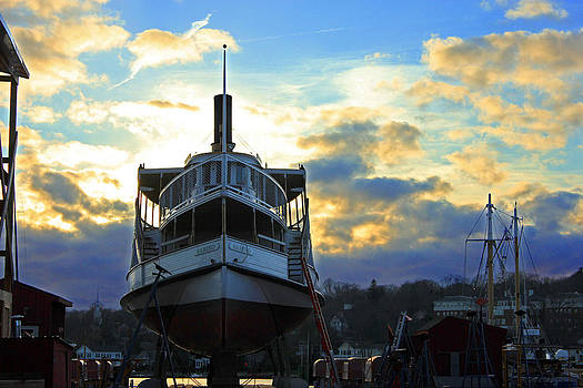 Shipyard at Mystic by Cathy Leite Photography
