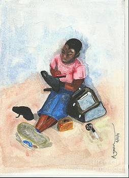 Shoe Polishing by Ayman Youssif