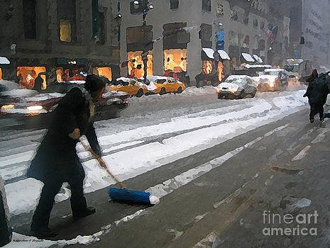 Anne Ferguson - Shoveling Madison Avenue