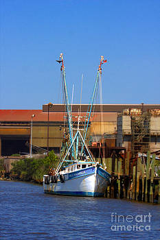Terry Shoemaker - Shrimp Boat in harbor