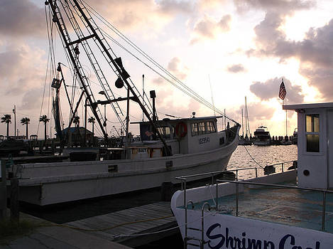 Stacey Robinson - Shrimp boats at sunrise