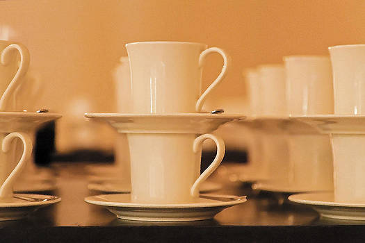 Kantilal Patel - Side elevation rows Cups Saucers